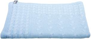 Baby´s Only Kinderdecke 'Cable' hellblau, 100 x 135 cm