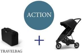 Thule Spring Buggy mit Reisetasche Midnight Black Aluminium