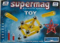 Supermag Magnet-Konstruktionskasten Toy 50 (Farbe: Grün)