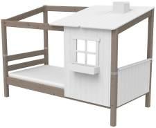 Flexa '1/2 Classic-Haus' Hausbett weiß/grau, 90x190 cm