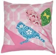 Taftan 'Inkes & Vogel' Kissenbezug rosa 50 x 50 cm