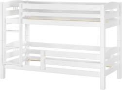 Erst-Holz Etagenbett Kiefer weiß 90x200 inkl. Fallschutz