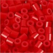 Fuse Beads, Größe 5x5 mm, Lochgröße 2,5 mm, Rot , Medium, 1100 Stück