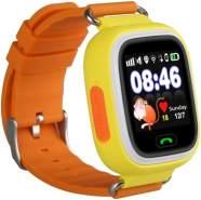 Leotec Kids Way Kinder-Smartwatch GPS, Einheitsgröße, Silikonarmband, Orange