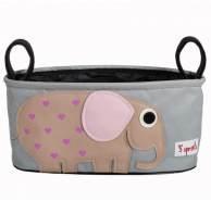 3Sprouts - Kinderwagentasche Elefant