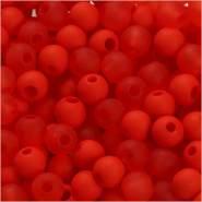 Kunststoffperlen, D: 6 mm, Lochgröße 2 mm, Orange, 40g, ca. 150 Stück