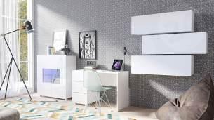 Mirjan24 'Calabrini XV' Jugendzimmer-Set, Weiß / Weiß Hochglanz