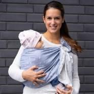 LIMAS | Ring Sling | Geburt bis Kleinkindalter | Bauch- und Hüfttrageweise | diagonal gebundenes Tragetuch Skandic