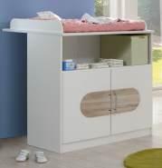 Wimex 'Lilly' 4-tlg. Babyzimmer-Set, aus Bett 70x140 cm, Kleiderschrank, Wickelkommode inkl. Unterstellschrank und Standregal