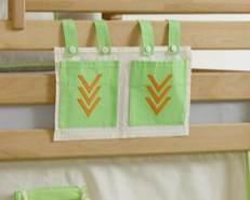 Stofftasche Seitentasche Hängetasche für Hochbett Etagenbett Indianer
