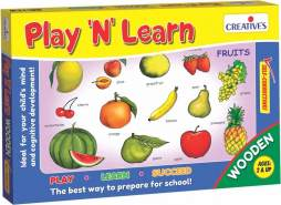 Creative Educational 848,4 cm Play N Learn Holz Fruits Spiel