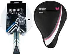 Butterfly 1x Timo Boll Vision 2000 Tischtennisschläger + Tischtennishülle Drive Case