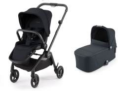 Recaro SADENA Kinderwagenset Gestell Black (8 Farben) Select Night Black
