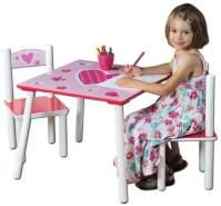 Kesper 'Herzen' Kindersitzgruppe weiß/rot/pink