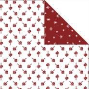 Design-Papier - Sortiment, Blatt 30,5x30,5 cm, 180 g, , Herzen Eiskristalle, 3Bl.