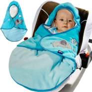 Lupilu Babydecke zum Einschlagen mit Fußsack- 90x75cm (Farbe: blau)