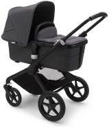Bugaboo 'Fox2' Kombikinderwagen Schwarz inkl. Babyschale, Babywanne und Adapter