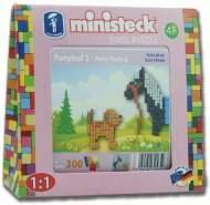 Ministeck 32585 - Ponyfarm - Pony mit Hund, ca. 300 Teile