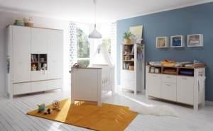 Babyzimmer Adele in Weiß- Asteiche von Mäusbacher 5 teiliges Megaset