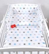 Babylux 'Sterne Blau' Kinderbettwäsche 40x60/100x135 cm