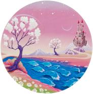Böing Carpet 'Lovely Kids - Märchenschloss' Kinderteppich rosa, Ø 100 cm