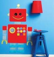 Wallies WallPlay Robot Wandtattoo