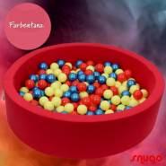 Bio Premium Bällebad FARBENTANZ in hibiskus rot mit 300 Bällen aus Zuckerrohr