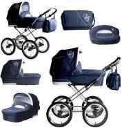 Bebebi Loving | 2 in 1 Kombi Kinderwagen | Nostalgie Kinderwagen | Farbe: Blue Ardent