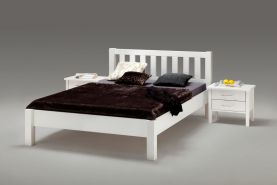 'Ben' Kinderbett aus massiver Buche, weiß, 140x200 cm