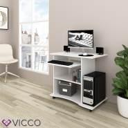 VICCO 'Harm' Schreibtisch, Weiß, rollbar