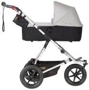 Mountain Buggy 'Urban Jungle 3' Kombikinderwagen Silver mit Babyschale in Soho Grey