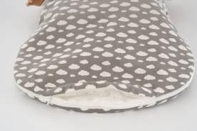 Träumeland Babyschlafsack 2tlg. Set Wolke grau, Größe 44