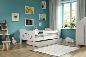 Kinderbettenwelt 'Chrisi' Kinderbett 80x160 cm, Weiß, Kiefer massiv, inkl. Schublade, Lattenrost und Matratze