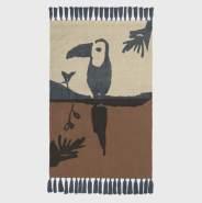 Nofred Toucan Kinderteppich Brown 100x150 cm