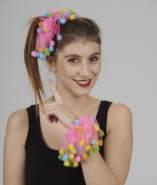 Pompon Gummi-/Haarband