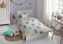 good morning Renforcé Kids Bettwäsche 2 teilig Bettbezug 135 x 200 cm Kopfkissenbezug 80 x 80 cm Foxtrot 6526. 03. 08 Grey
