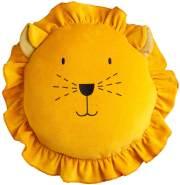 Wigiwama Spielkissen Löwe Samt gelb