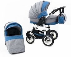 Tabbi ECO LN - 3 in 1 Kombi Kinderwagen Luft Lightblue