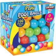 Pilsan Bällebad 06400, 100 bunte Spielbälle je 6 cm Durchmesser im Karton