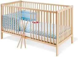 Pinolino 'Hanna' Kinderbett, natur, 70 x 140 cm, mit Schlupfsprossen, Lattenrost 3-fach höhenverstellbar