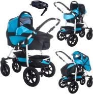 Bebebi Sidney | ISOFIX Basis & Autositz | 4 in 1 Kombi Kinderwagen | Luftreifen | Farbe: Great Barrier Reef