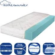 Wolkenwunder Komfort Komfortschaummatratze 160x210 cm (Sondergröße), H2 | H2 Partnermatratze