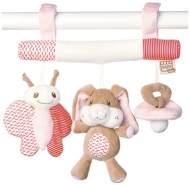 Saro Kinderwagenaufhänger mit Rassel Little Friends rosa