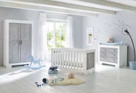 Pinolino 'Lolle' 3-tlg. Babyzimmer-Set grau/weiß