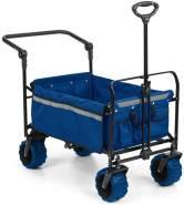 Easy Rider Bollerwagen bis 70kg Teleskopstange zusammenklappbar grün Blau