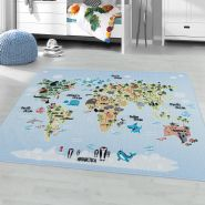 Kinderzimmer Kinderzimmerteppich 100x150 Blau
