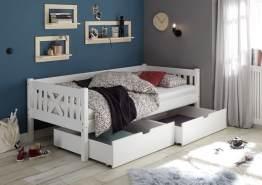 Bega 'Trevi' Kinderbett 90x200 cm, weiß, Kiefer massiv, inkl. 2 Bettkästen