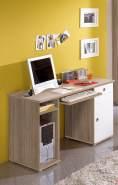 Bega Schreibtisch 'Wiki', für Kinderzimmer/Jugendzimmer, Sonoma Eiche, Nachbildung Weiß