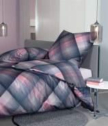 Janine Mako Satin 2 teilig Bettbezug 155 x 200 cm Kopfkissenbezug 80 x 80 cm Moments 98065-02 nachtschattenblau lila wildrosa
