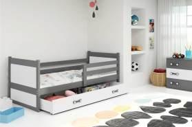 Stylefy Lora Funktionsbett 80x190 cm Graphit Weiß